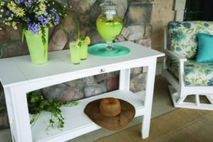 buffet table _ white