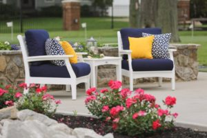 classic terrace white frames canvas navy cushions lifestyle