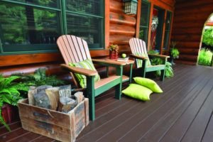 comfo back regular adirondacks cedar on green
