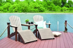 comfo back regular adirondacks weatherwood on chocolate brown