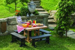 garden mission straight benches with 44x44 inch table.0