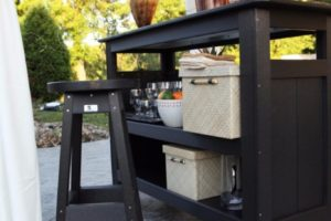 outdoor bar _ black