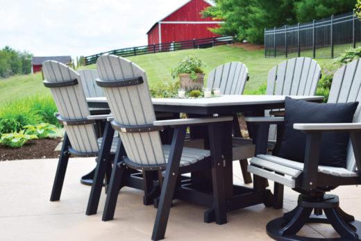 Driftwood on Black Table Set