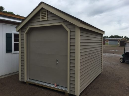 Durabuilt Vinyl Shed with 6' Garage Door