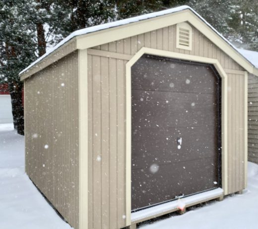 Limited Shed with Garage Door
