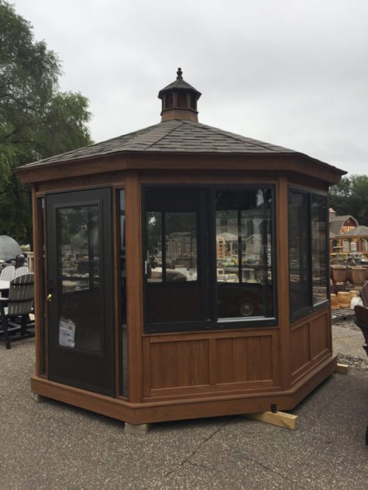 Octagon Wood Gazebo Enclosure