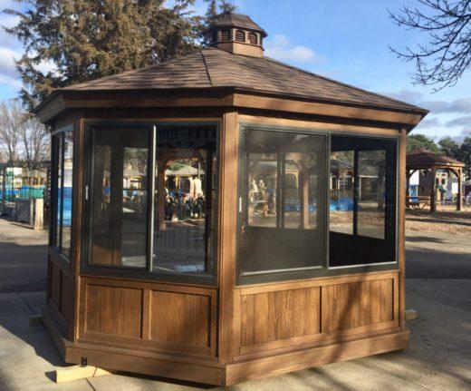 Oval Wood Gazebo Enclosure