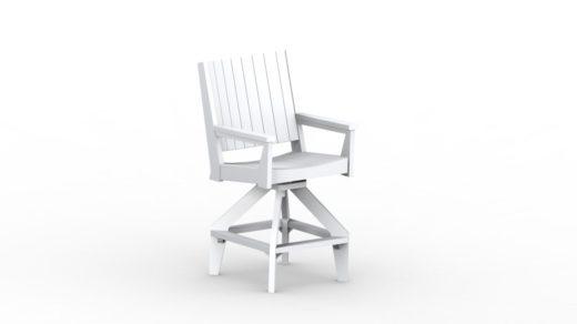 Mayhew Chat Bar Swivel Chair white