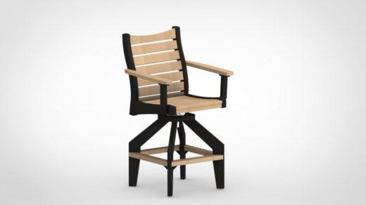 black Bristol Bar Swivel Chair two tone