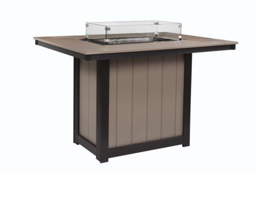 Donoma 42 x 54 Rectangular Fire Table Bar Height