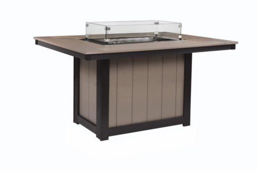 Donoma 42 x 54 Rectangular Fire Table Dining Height