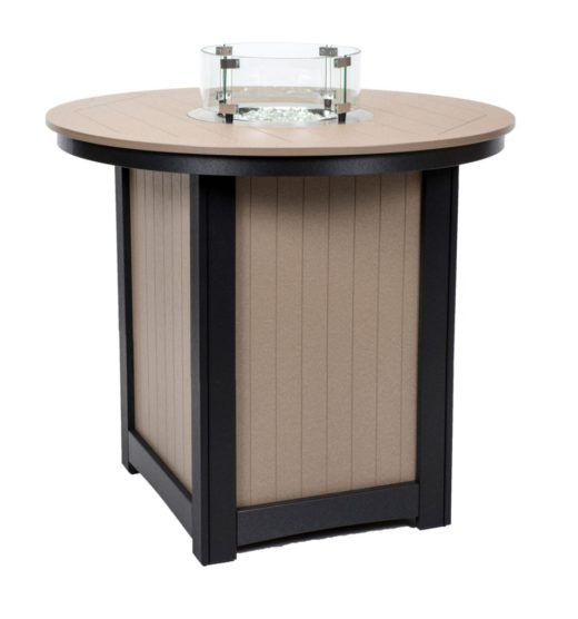Donoma 44 Inch Round Fire Table Bar Height