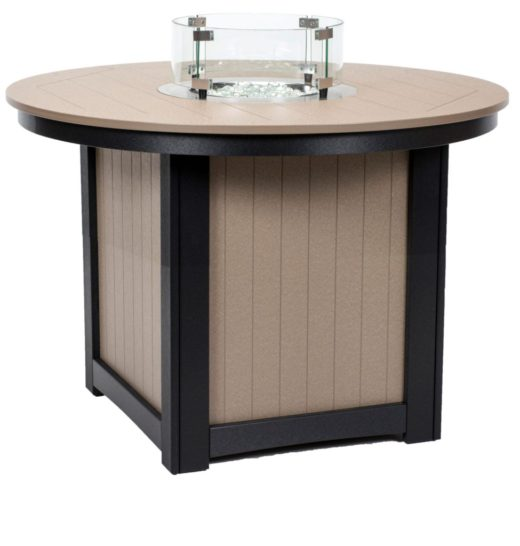 Donoma 44 Inch Round Fire Table Dining Height